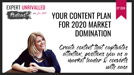 Your Content Plan for 2020 Market Domination